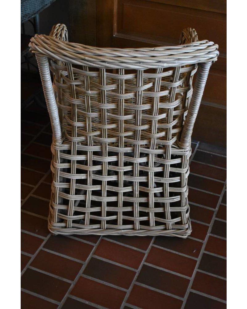 Rattan Arm Chair, Kooboo Grey