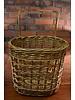 Rattan Shopper Basket with Wheels