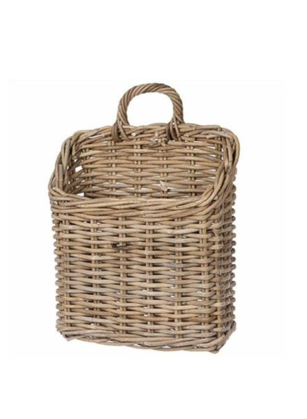 Rectangular Rattan Wall Basket, Kooboo Grey