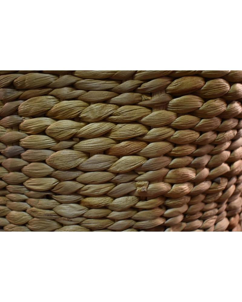Short Round Hyacinth Storage Basket (Medium)