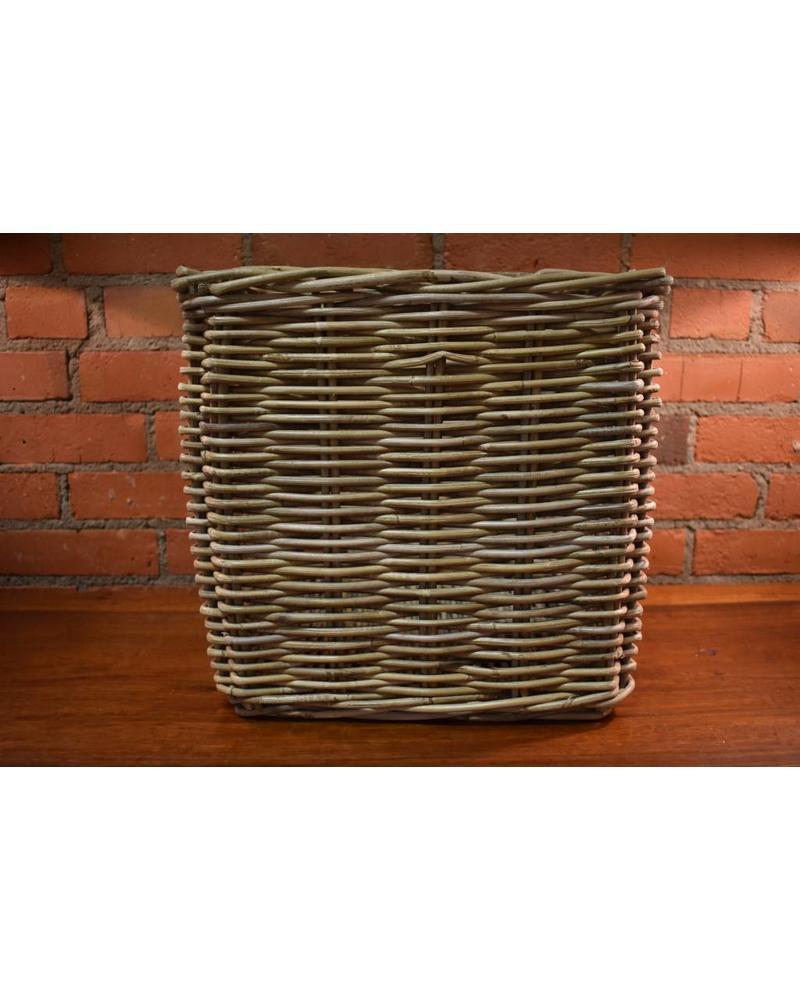 Square Rattan Storage Basket, Kooboo Grey (Medium)
