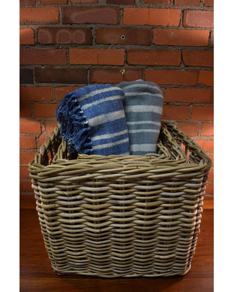 ... Square Rattan Storage Basket, Kooboo Grey (Medium)
