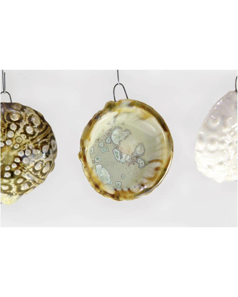 Sea Urchin Ornament - Mint & Tortoise