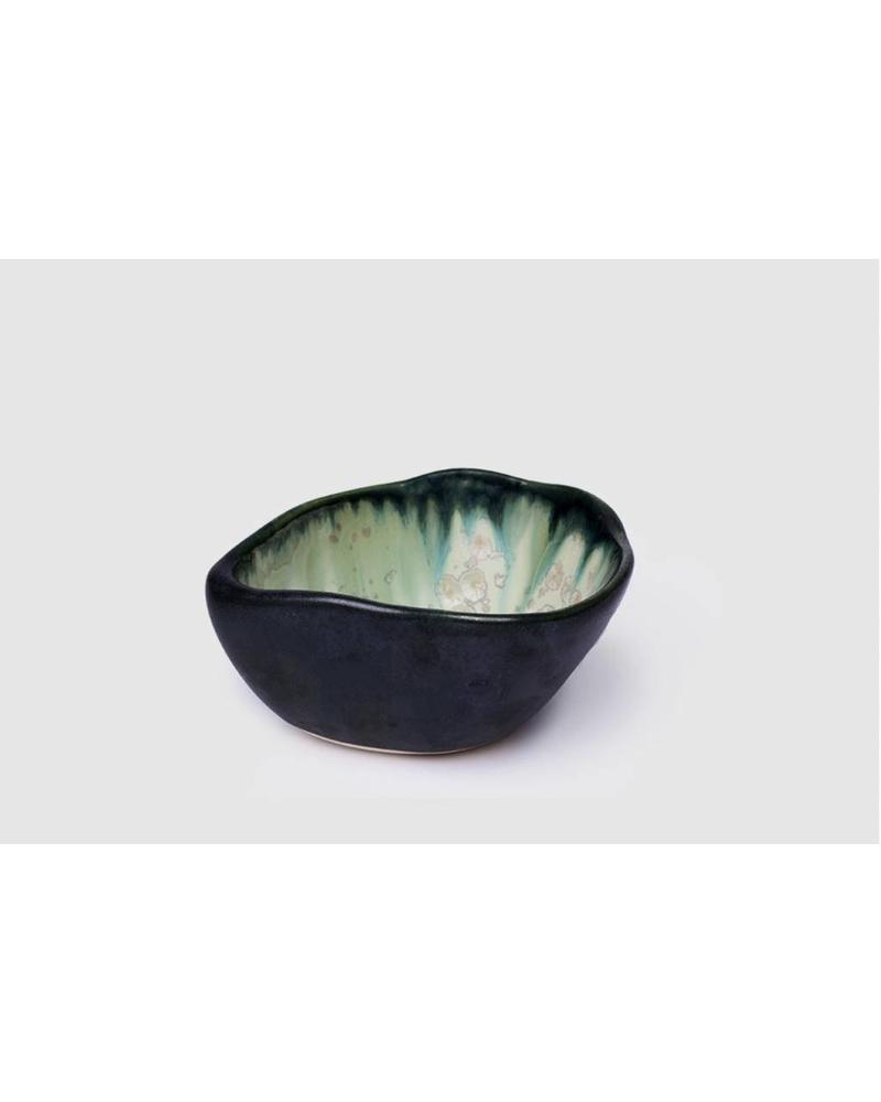 Dessert Bowl:  Mint and Charcoal