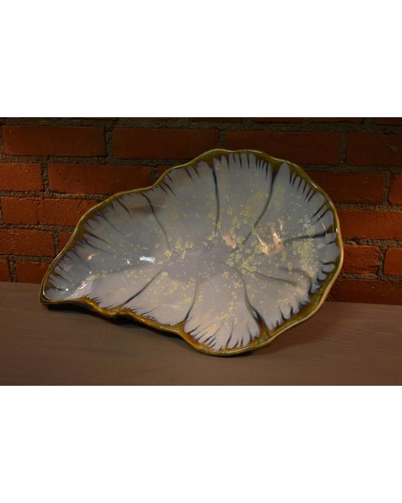 Coffee Table Oyster Bowl:  Abalone and Tortoise