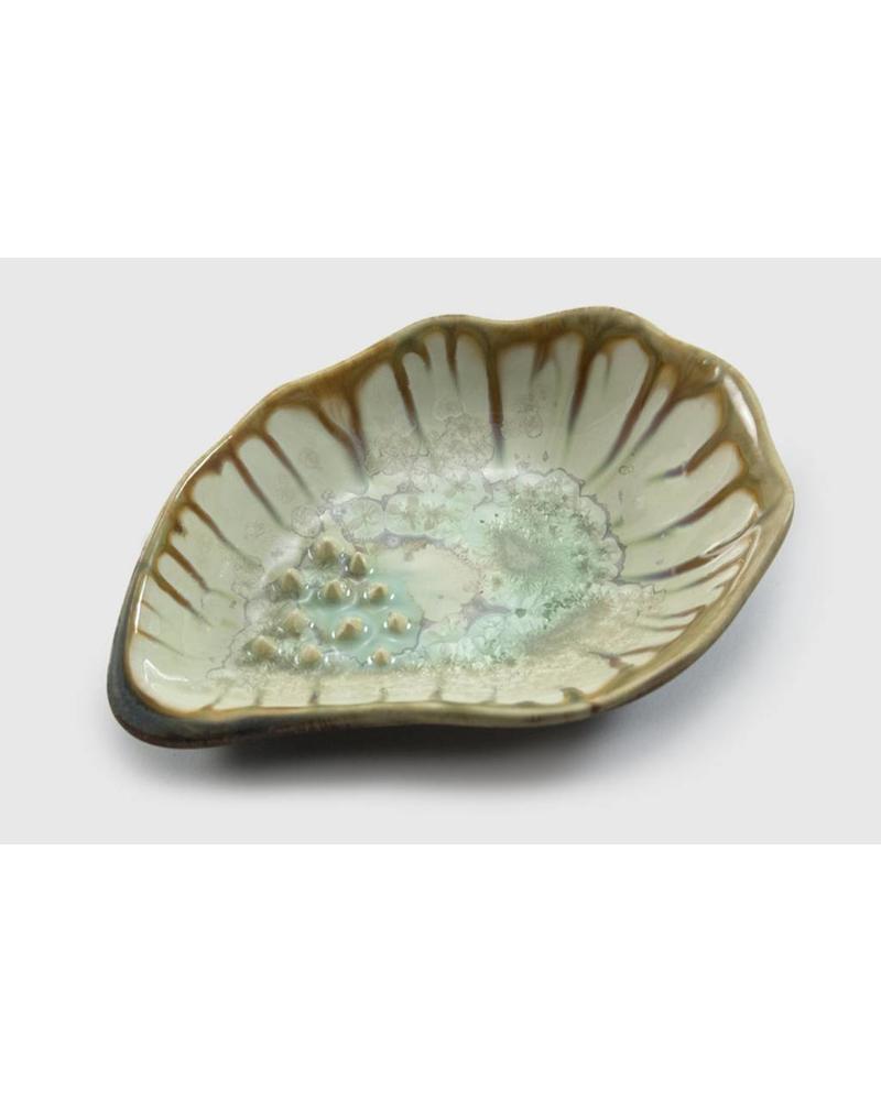 Garlic Grinding Bowl: Mint & Tortoise