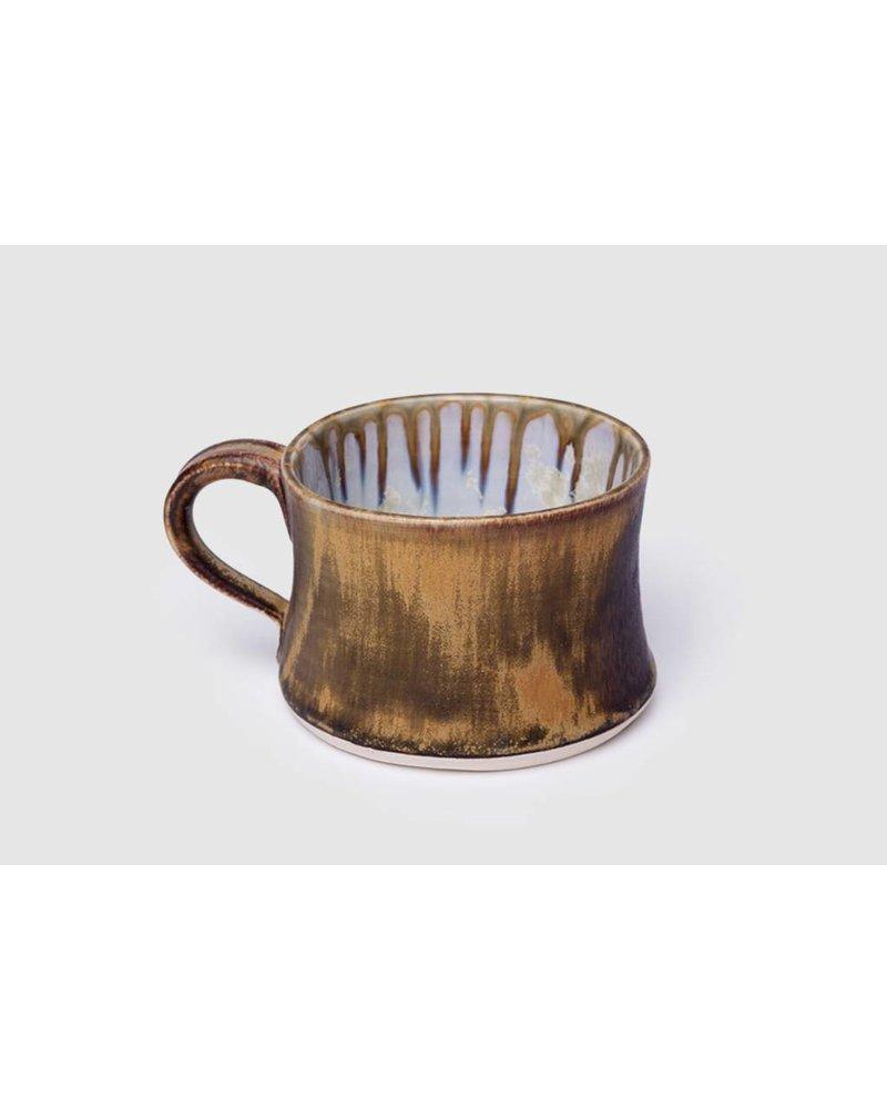 Short mug in Abalone and Tortoise