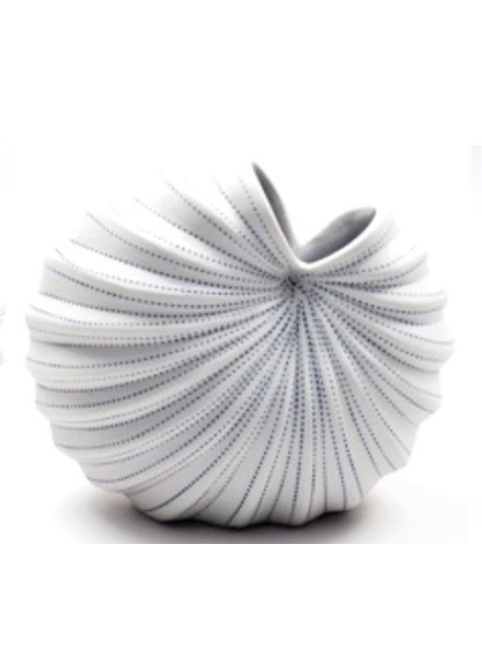 Palm Small Vase (White and Blue)