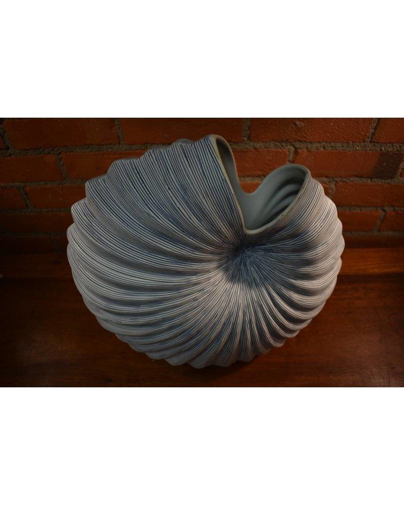 Palm Large Vase (Blue and White)