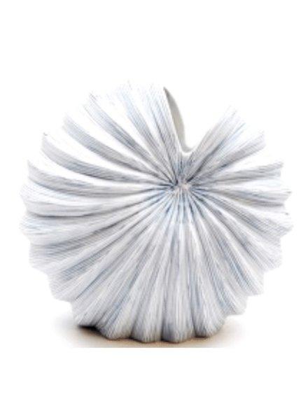 Palm Medium Vase (Blue and White)