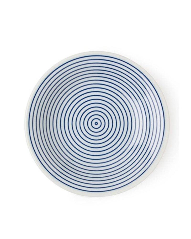 """miya WAMON 6.5"""" ROUND PLATE - BLUE"""