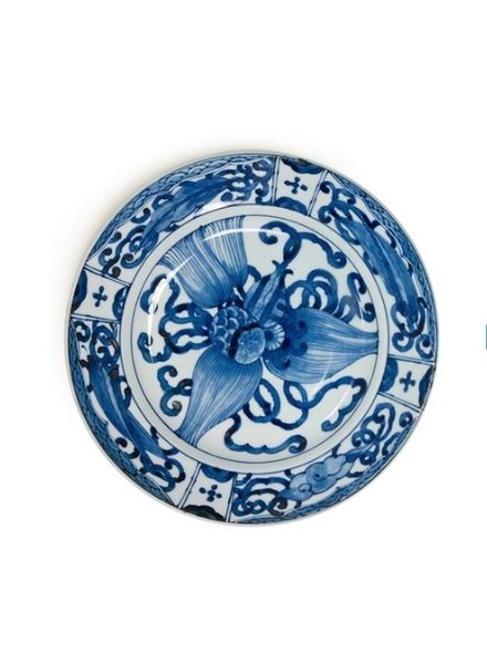 "miya BLUE & WHITE 9.25"" PLATE - TAKARA ZUKUSHI"