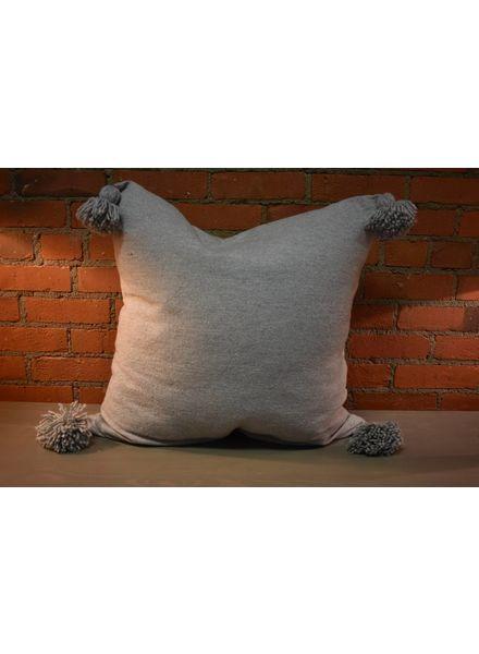 Moroccan Pillow-Euro (26 x 26) - Gray