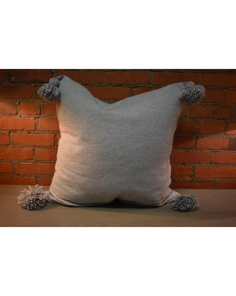 Moroccan Pillow-Euro (26 x 26) - Gray