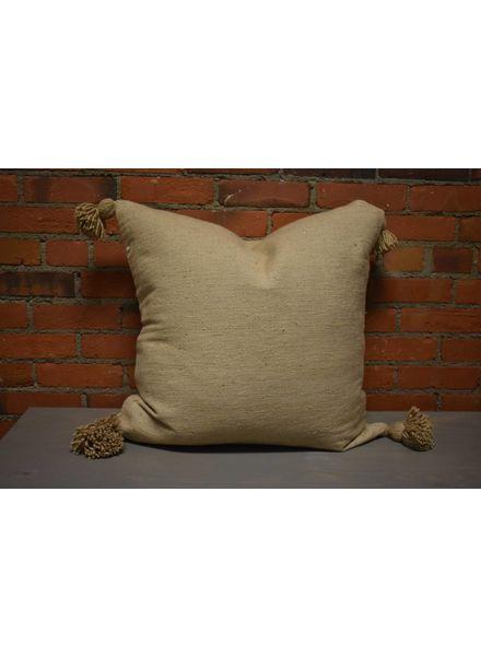 Moroccan Pillow-Euro (26 x 26) - Khaki