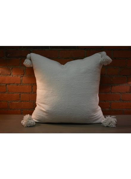 Moroccan Pillow-Euro (26 x 26) - White