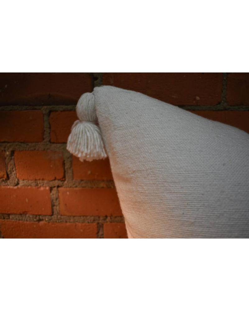 Moroccan Pillow-Euro (26 x 26) - White