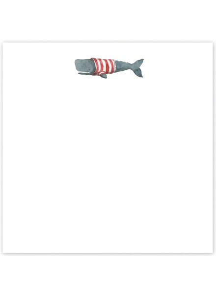 Striped Whale Notepad