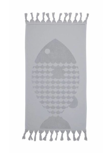 Fish Hand Towel (Grey)