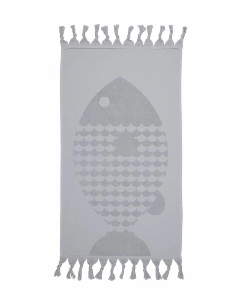 Fish Hand Towel (Grey)