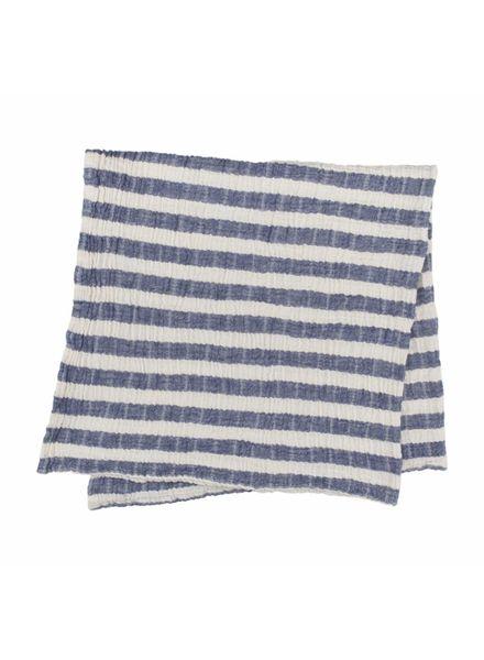 Kids Stripy Muslin Blanket (Navy)