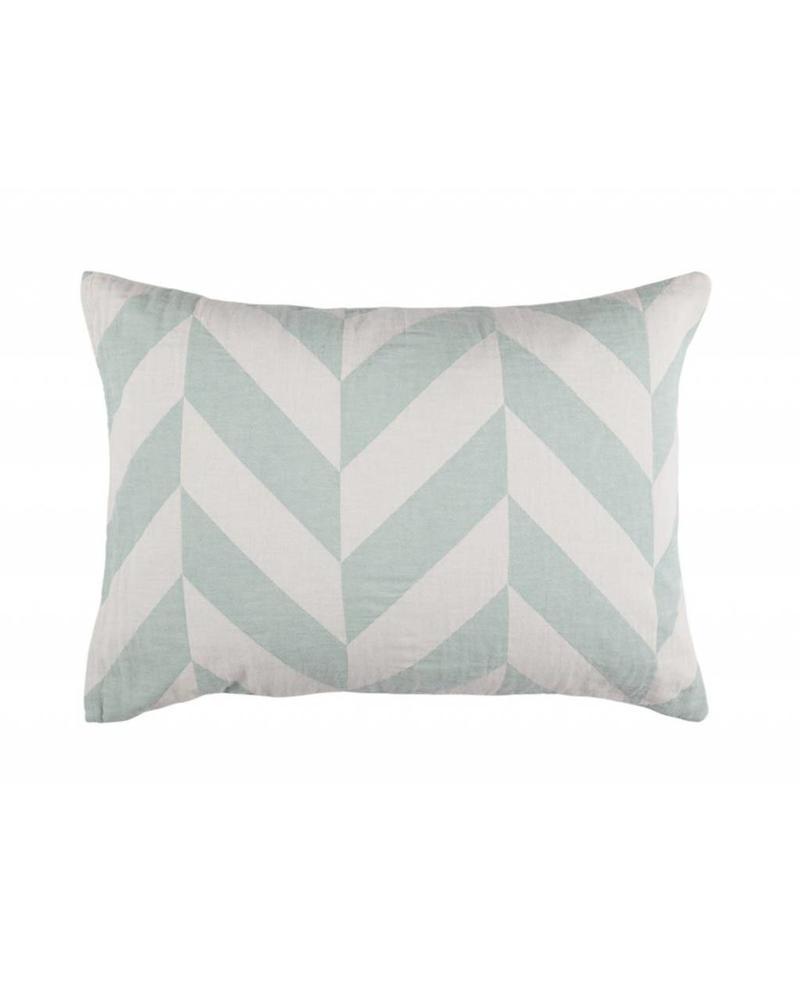 Fishbone Pillow Case (Sage)