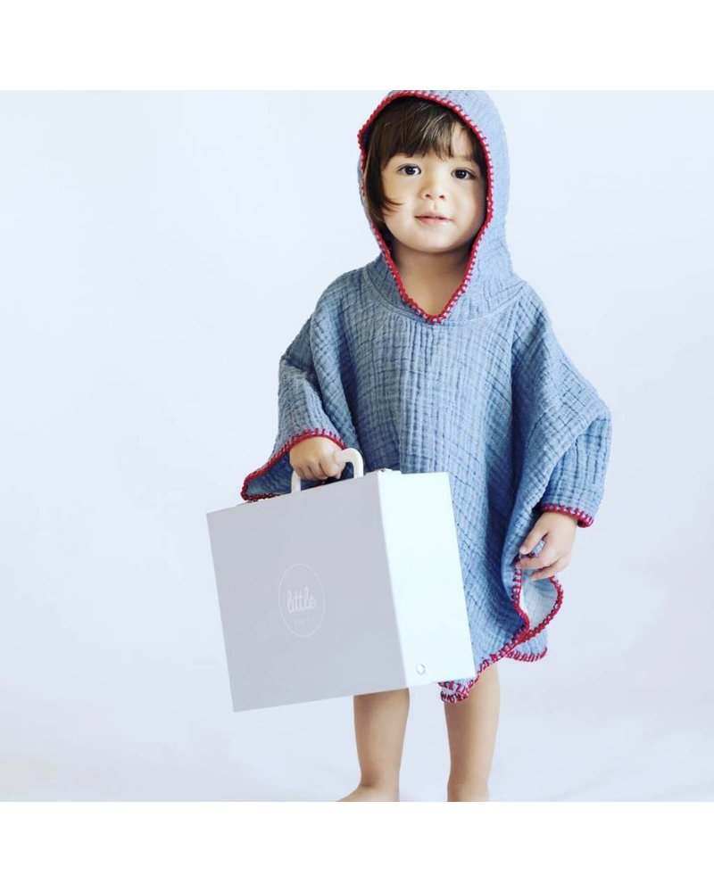 Kids Cocoon Poncho 5/6 (Blue)