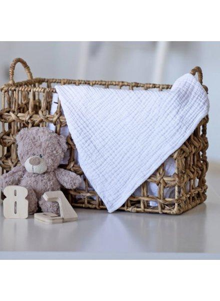 Kids Cocoon Baby Blanket (White)