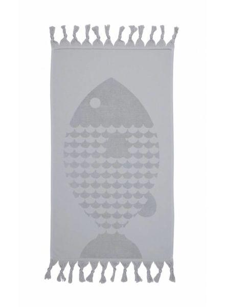 Fish Bath Towel (Grey)