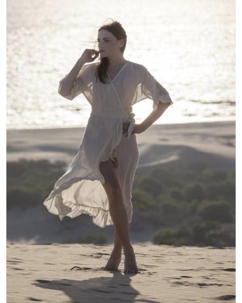 Frilled Dress Ecru S/M