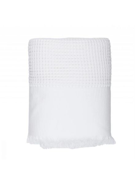Waffle Bed Cover, Single (White)