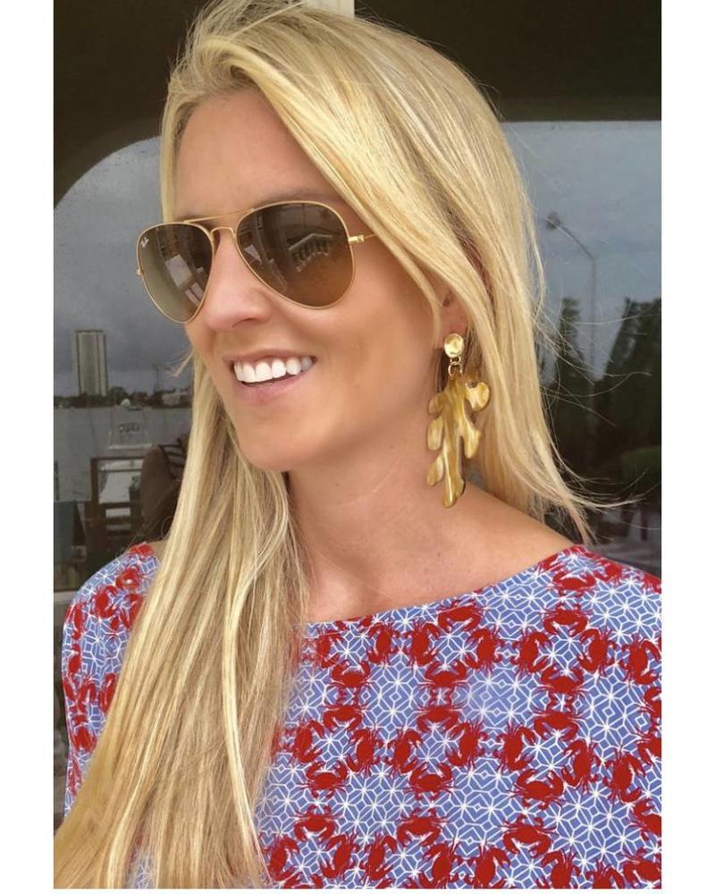 MdeM Designs Calypso Coral Earrings (Large)