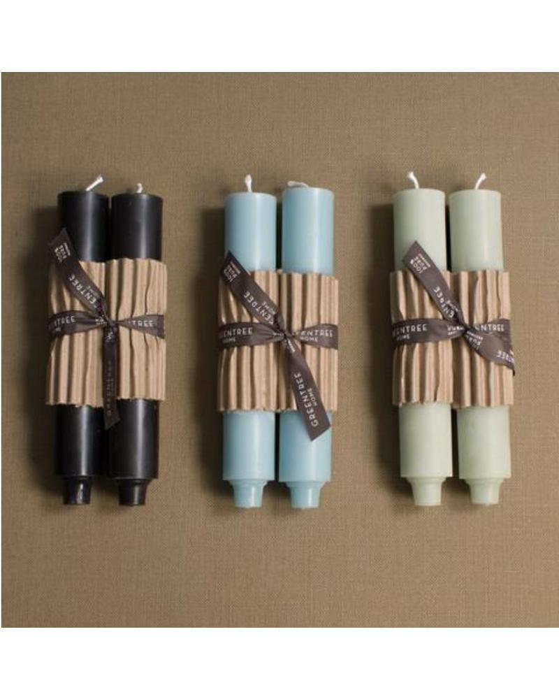 "9"" Column Candle, CELADON (Pair)"