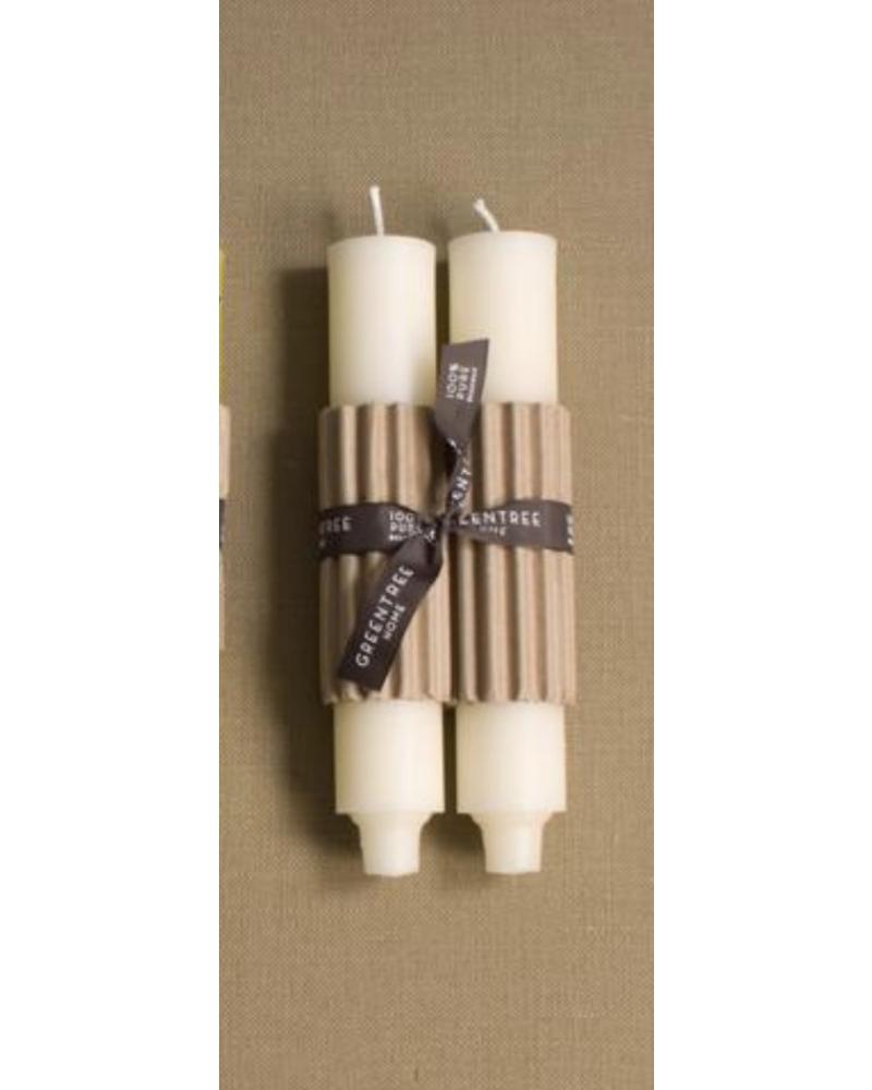 """9"""" Column Candle, CREAM (Pair)"""