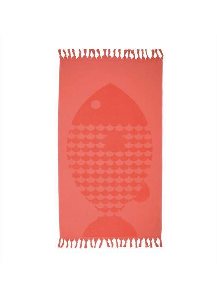 Fish Bath Towel (Papaya)
