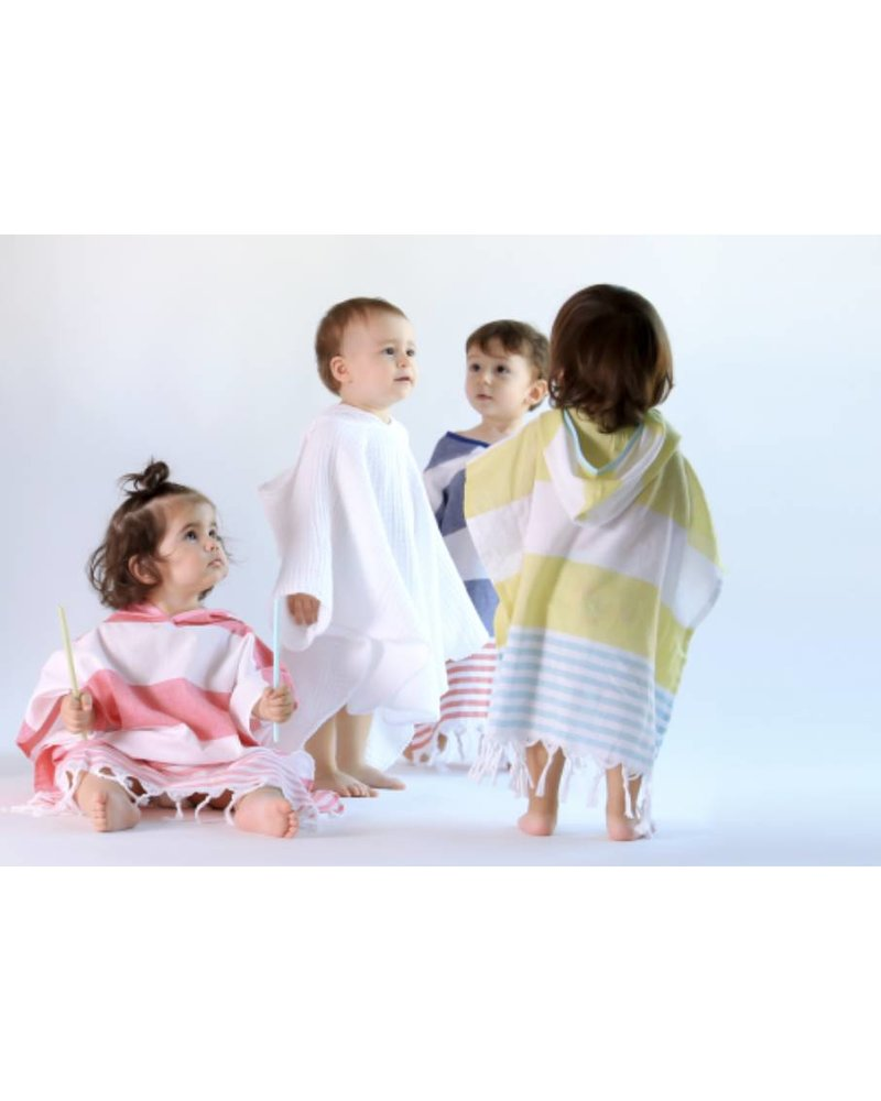 Kids Cocoon Poncho 5/6 (White)