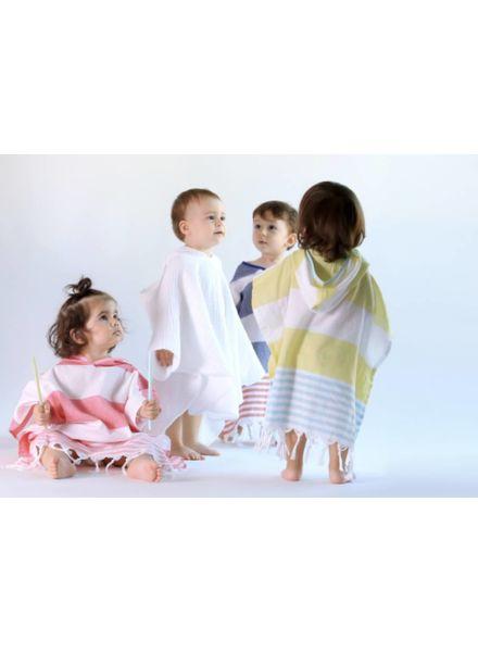 Kids Cocoon Poncho 3/4 (White)
