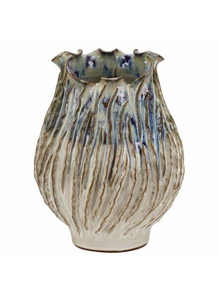 Wavy Ceramic Thai Vase