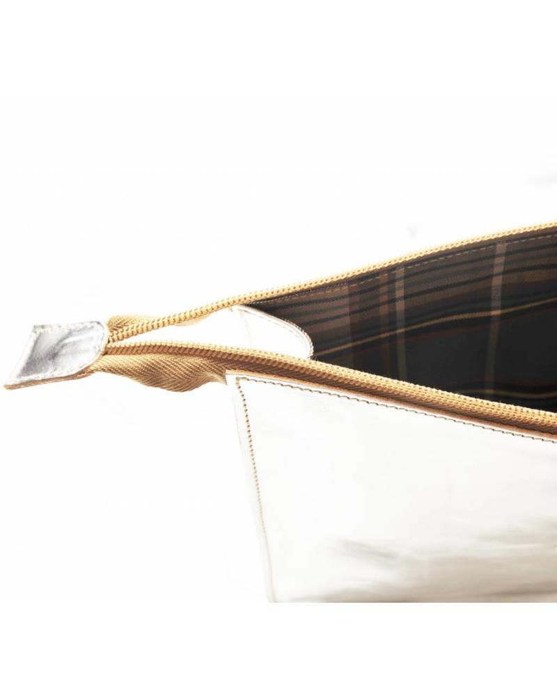 Calf Beauty Case (A0024.PE)-Silver