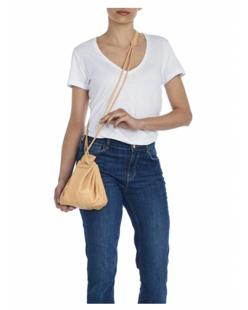 Cowhide Cross Body Bag (A0049.P)-Natural