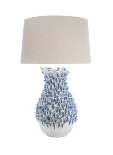 Blue and White Coral Lamp