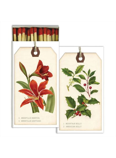 Holiday Botanical Red Tag Matches