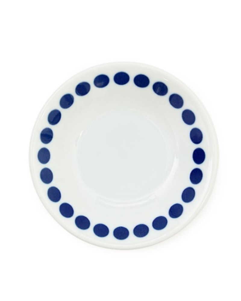 "BLUE DOTS 4"" SAUCE DISH"