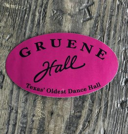 Gruene Hall Bumper Sticker Pink