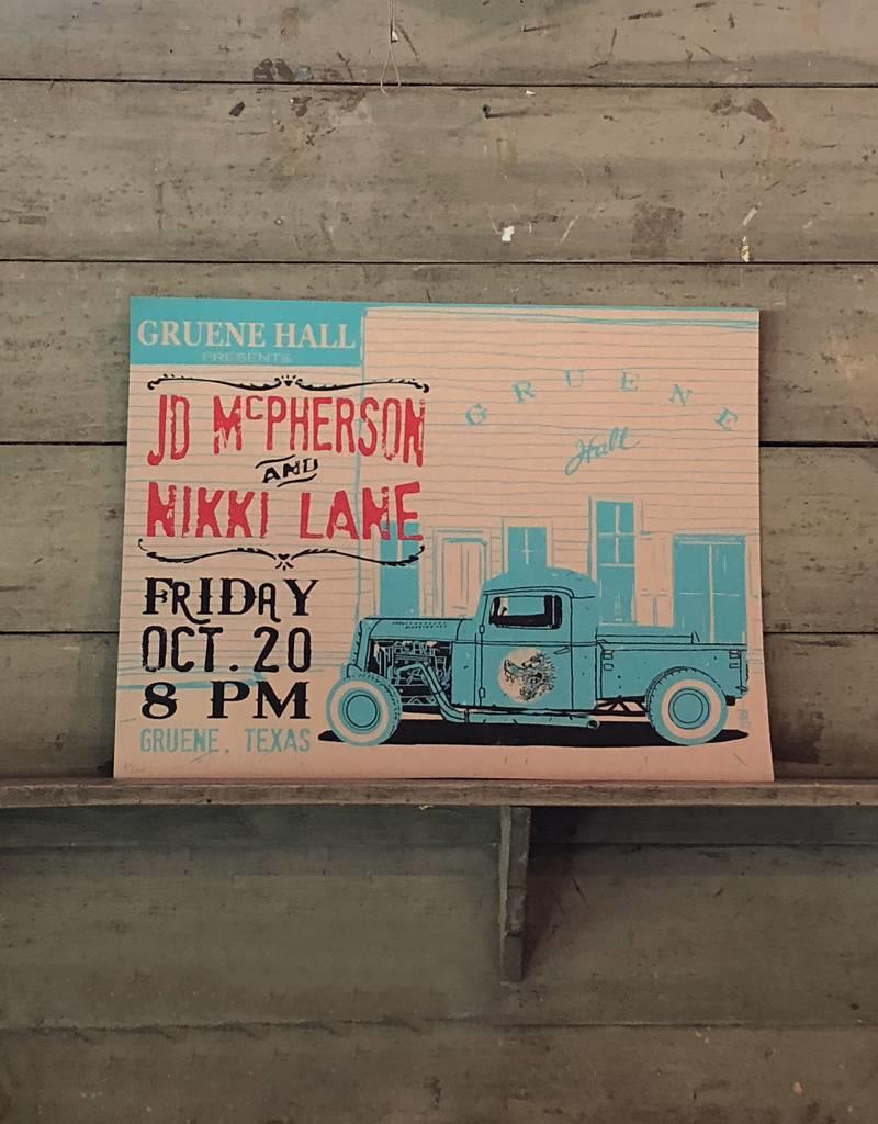 JD McPherson & Nikki Lane Gruene Hall Poster