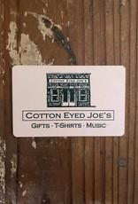 Cotton Eyed Joe's $10 Gift Card