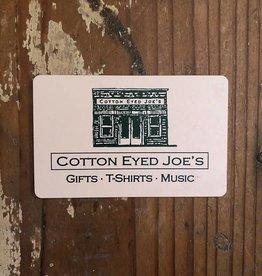 Cotton Eyed Joe's $20 Gift Card
