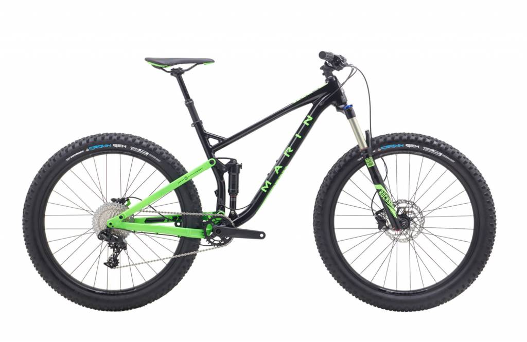 Marin BICYCLE Marin B-17 1 Gloss Black Green 2018
