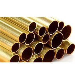 K & S Metals KS round brass tube 1/8""