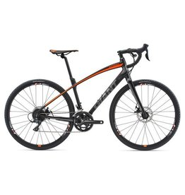Giant AnyRoad 2 L Matte Black/Neon Orange/Grey